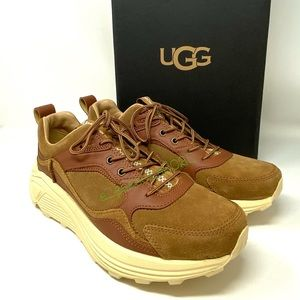 UGG Men's Sneakers MIWO Trainer Low Leather Tan